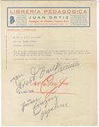 D187 Rechnung Spanien 1925 Libreria Pedagogica Export Und Import Nach Leipzig Transportunternehmen - Spain