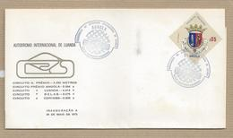 Angola FDC Portugal  (Periodo Colonial) Autodromo Internacional De Luanda Sobrescrito De Primeiro Dia - Angola