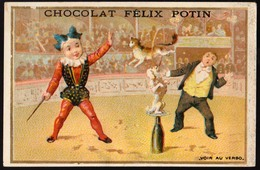 Chocolat Felix Potin - Clown - Impr. Sicard(SC3-41) - 106x70 Mm - Chromos