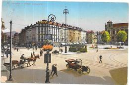 GENEVE - SUISSE - CPA COLORISEE De La Place Cornavin - Attelage, Tramway Et Automobile - ORL - - GE Genève