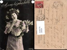 539526,tolle Foto-AK Frau Kleid Mode Blumen Girl Woman Fotokunst - Paare