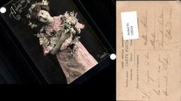 539524,tolle Foto-AK Frau Kleid Mode Blumen Girl Woman Fotokunst - Paare