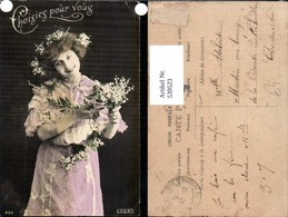539523,tolle Foto-AK Frau Kleid Mode Blumen Girl Woman Fotokunst - Paare