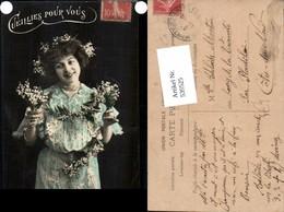539525,tolle Foto-AK Frau Kleid Mode Blumen Girl Woman Fotokunst - Paare
