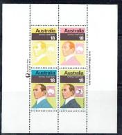 1974  Souvenir Sheet Of 4 Different DEsigner Of «Kangaroo» Stamps  ** - 1966-79 Elizabeth II