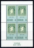 1972  50th Ann Of Irish Postage Stamps Stamp On Stamp, Map  Miniature Sheet Of 4 ** - Blocchi & Foglietti