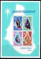 1976  Christmas Issue  Nativity Scenes Map Of Montserrat  Souvenir Sheet  ** - Montserrat