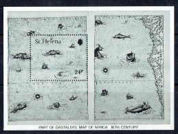 1981  Gastaldi's Map Of Africa   Souvenir Sheet  ** - Saint Helena Island
