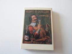 BOITE D ALLUMETTES CHAMPAGNE DE CASTELLANE  EPERNAY VICOMTE DE CASTELLANE  ****   RARE A  SAISIR ******* - Matchboxes