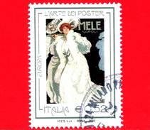 ITALIA - Usato - 2003 - Europa - Donna Vestita Di Bianco - Dudovich  - L'Arte Dei Poster - Mele - Napoli - 0,52 € - 6. 1946-.. Repubblica