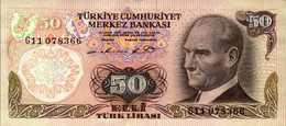 TURQUIE 50 LIVRES De L1970(81-82)  Pick 188  AU/SPL - Turkey