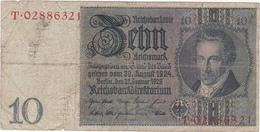 Allemagne - Billet De 10 Reichsmark - A.D. Thaer - 22 Janvier 1929 - [ 3] 1918-1933 : Weimar Republic