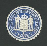 101-40 GERMANY Cleve Staatsanwaltschaft Seal Used - Erinnofilia