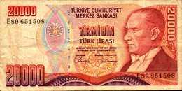 TURQUIE 20000 LIVRES De L1970(88)  Pick 201 - Turkey