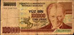 TURQUIE 100000 LIVRES De L1970(97)  Pick 206 - Turquie