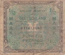 Allemagne - Billet De 1/2 Mark - Occupations Alliés - Série 1944 - [ 5] 1945-1949 : Occupation Des Alliés