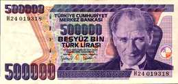 TURQUIE 500000 LIVRES De L1970(93)  Pick 208  XF/SUP - Turkey