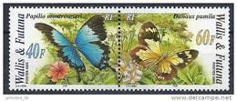 2005 WALLIS ET FUTUNA 641-42** Papillons, Se Tenant - Wallis And Futuna