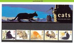 Nbd0360b FAUNA KATTEN ZOOGDIEREN CATS MAMMALS KATZEN CHATS FELINS PRESENTATION PACK GREAT BRITAIN 1995 PF/MNH - Hauskatzen