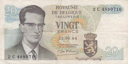 Belgique - Billet De 20 Francs - Beaudoin Ier - 15 Juin 1964 - [ 2] 1831-... : Belgian Kingdom