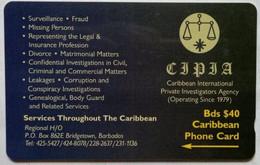 Barbados Phonecard B$40 CIPIA 263CBDC - Barbados