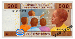 CENTRAL AFRICAN STATES CONGO 500 FRANCS 2002 Pick 106T Unc - Central African States