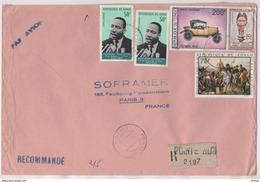 CONGO BRAZAVILLE VIGNETTE RECOMMANDEE POINTE NOIRE, NAPOLEON FRIEDLAND, MARTIN LUTHER KING, CITROEN 1922 - A VOIR - Congo - Brazzaville
