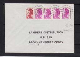 """Secap  5.LO.  Sur Lettre De  PARIS GARE D'AUSTERLITZ Le 5 9 1984  Pour  92003 NANTERRE """" Liberte De Gandon X 5 """" - 1982-90 Liberty Of Gandon"""