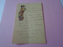 MENU DU 09 MARS 1899  THEME JAPON   ****   RARE A  SAISIR ***** - Menu
