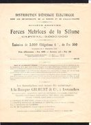 Emission De 3000 Obligations Sté Forces Motrices De La Sélune / Souscription Banque Gilbert & Cie à Avranches  (50) - Ohne Zuordnung