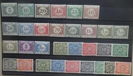 BELGIE  Strafport  1922     Tx  32 - 48  Scharnier *  +   Tx 49 - 55 A  Postfris **     CW  9,00