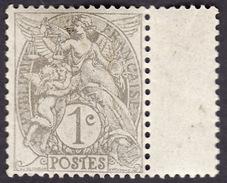FRANCE  1900  -  Y&T  107    Blanc - Gris Type IB - NEUF ** - 1900-29 Blanc