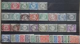 BELGIE  Strafport   1919-45     Tx  26 - 31 /  32 - 48 /  49 - 55 A       Gestempeld      CW  9,50