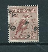 1932 Australia 6d Kookaburra,birds,oiseaux,vögel Used/gebruikt/oblitere - 1913-36 George V : Andere