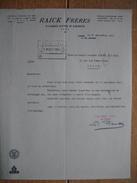 Lettre 1963 LIEGE - RAICK Frères - Fabricants D'armes - Autres