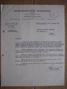 Lettre 1957 LIEGE - SCHROEDER FRERES - Armes, Munitions - Agent De La FABRIQUE NATIONALE D'ARMES DE GUERRE - Autres