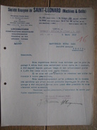 Lettre 1937 LIEGE - ANS - Société Anonyme De SAINT-LEONARD - Locomotives, Chaudronnerie, Fonderie De Fer, Forge - Factures & Documents Commerciaux