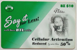 Belize Phonecard BZ$10 Say It For Less - Belize