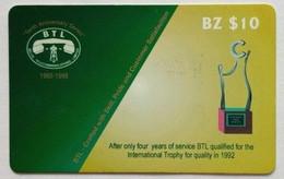 Belize Phonecard BZ$10 BTL Trophy - Belize