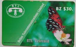Belize Phonecard BZ$30 Butterfly - Belize