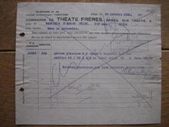 Bulletin De Commande 1928 LIEGE - THEATE FRERES - Armes - Factures & Documents Commerciaux