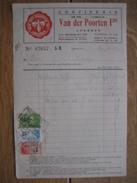 """Factuur 1932 LOKEREN - VAN DER POORTEN Frs - Confiserie """"DE BIE"""" """"L'ABEILLE"""" - Autres"""