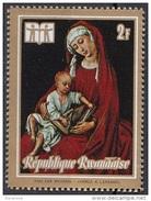 "510 Rwanda 1973 "" Madonna Duran "" Quadro Dipinto Da Roger Van Der Weyden Nuovo MNH Painting Tableau"