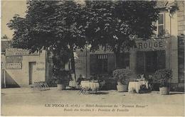 """LE PECQ - Hôtel-Restaurant Du """" Poisson Rouge """"  Route Des Grottes 8 - Pension De Famille - Le Pecq"""