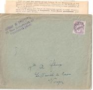 3893 PARIs Lettre Envoi En Nombre Avec Document Daté Joint Timbre 10c Blanc Affranchissemnts Postes Préoblitéré Yv 43 - Préoblitérés