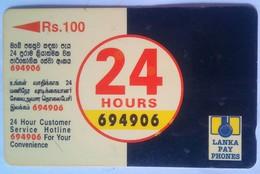Sri Lanka Phonecard Rs 100 38SRLB 24 Hours - Sri Lanka (Ceylon)