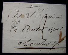 31/AUCH  Jolie Marque Noire Sur Lettre Non Datée Et Sans Correspondance - 1701-1800: Précurseurs XVIII