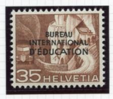Switzerland, International Offices, 1950, BIE, International Education Bureau, 35 C., MNH, Michel 35 - Service