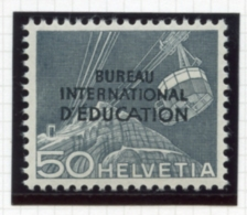 Switzerland, International Offices, 1950, BIE, International Education Bureau, 50 C., MNH, Michel 37 - Service