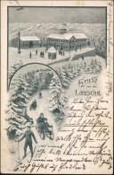 Waltersdorf-Großschönau (Sachsen) 2 Bild-Winterlitho: Rodeln Und Buade 1908 - Grossschoenau (Sachsen)